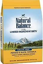 Natural Balance L.I.D. Limited Ingredient Diets Dry Dog Food, Potato & Duck Formula, 26 Pounds, Grain Free