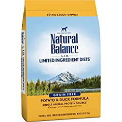 Contains (1) 26 pound bag of dry dog food Grain-free, limited ingredient diet with a single animal protein source Helps minimize the number of ingredients dogs are exposed to Maintains digestive health Supports healthy skin and a shiny coat