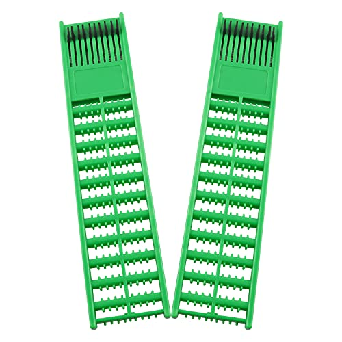 WHYHKJ 2pcs Fishing Rig Double Faces Board Fishing Leaders Store Spools Carp Fishing Rig Winders Fishing Tackle Accessories, Green