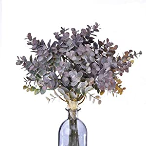 Anna Homey Decor Artificial Plants Eucalyptus Leaves Artificial Greenery Silver Dollar Eucalyptus Leaf Branches Greenery Garland for Indoor Outside Home Garden Office Wedding Decoration