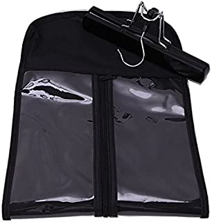 Hair Extension Storage Bag, Hair Extension Hanger Strong Holder, Dust-proof Portable Suit with Transparent Zip Up Closure- Lightweight, Waterproof and Portable (Black)