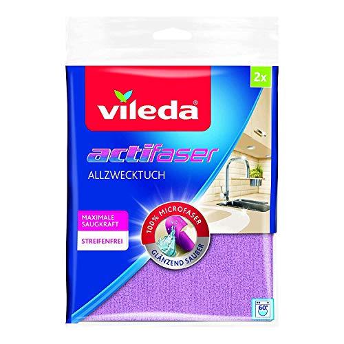 Vileda Actifaser Allzwecktuch für eine streifenfreie Reinigung, 2er Pack
