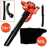 Leaf blower 3 in1 leaf blower with 50L collecting bag, 450ml petrol blower with two-chamber motor, function nozzle