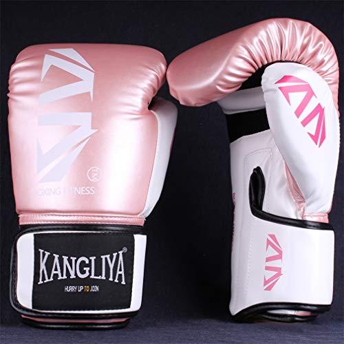 Boxhandschuhe Professionelle Erwachsenen Sanda Kinder Handschuhe Training Training Kickboxen Boxen liefert Für Kämpfen, Kickboxen, Sparring-Handschuh für Boxsack,Rosa,10oz