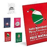 Unicef - Biglietti natalizi 'Good Wishes', confezione da 10