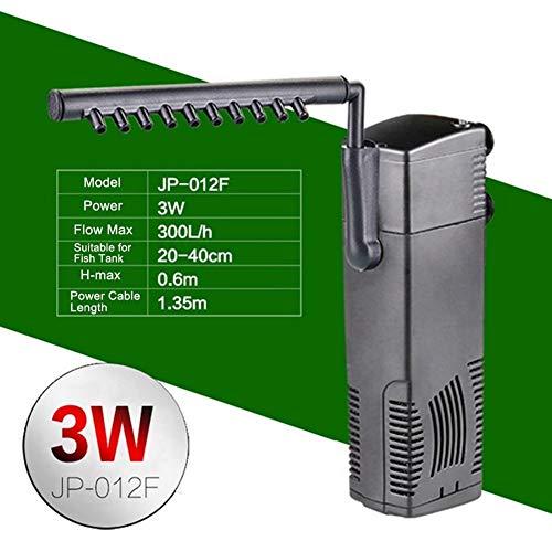WhYlzh filtratie voor aquarium, 220 V, stil, binnenfilter 3-in-1, schildpad, dompelpomp, waterfilter, US Plug, JP012F 3W