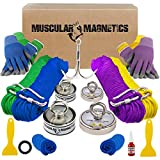 The Ultimate Magnet Fishing Family Kit - Includes Four Complete Magnet Fishing Kits for Kids to Adults - 400lb Single Sided, 625lb Double Sided, 625lb Single Sided & 1225lb Double Sided Magnets