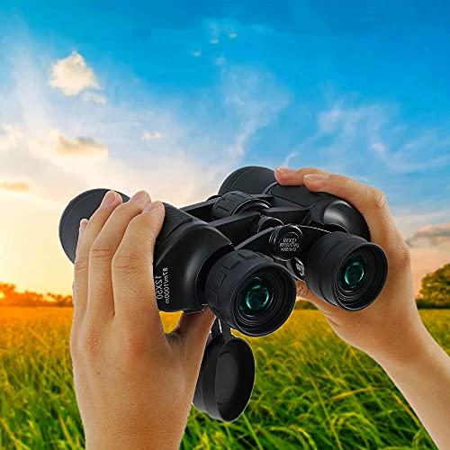 Prismáticos para adultos, 20 x 50 BAK4 de alta potencia, prismáticos portátiles con bolsa de eloscopio para observación de aves, fútbol, excursionismo, excursión
