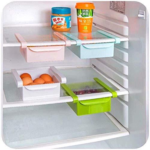 TOMYEER Cocina Refrigerator Almacenamiento Estante Congelador Estante Titular (2Pcs)