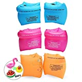 Jiareet PVC Arm Floaties Inflatable Swim Arm Bands Floater Sleeves Swimming Rings Tube Armlets for Kids Toddlers and...