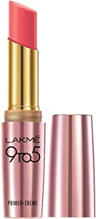 Lakme 9To5 Primer + Crème Lip Color, Pink Charge CP2, 3.6 g