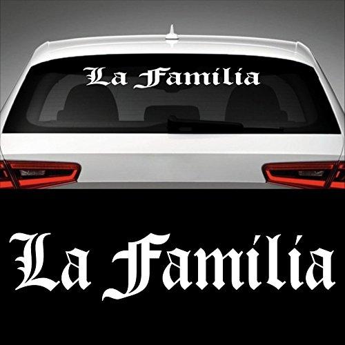 La Familia Heckscheibenaufkleber 60,0 cm x 12,5 cm Auto Aufkleber JDM OEM Tuning Sticker Decal 30 Farben zur Auswahl