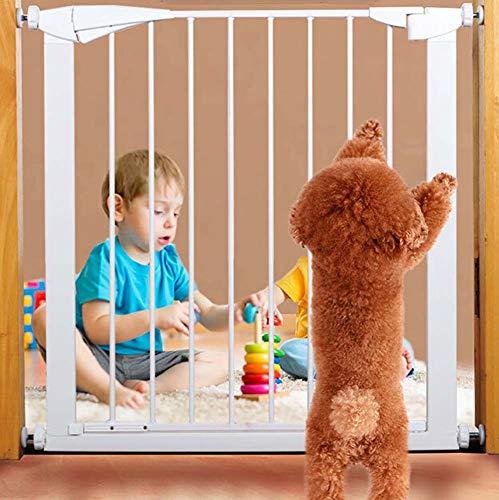 ZWW Pet Gate hek, Veiligheid Huisdier hek Isolatie Board Single Gate hek Geschikt voor Deur Breedte 31-34 Inch