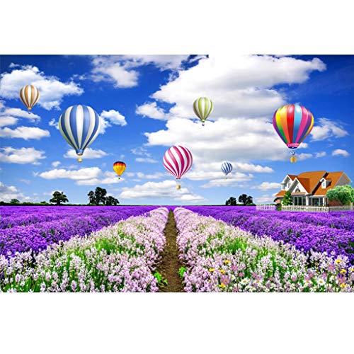 Puzzle 1000 Teile, Lavendelhaus, Hölzerne Landschaftspuzzle-Familiendekoration, Kreatives Geschenk des Kinderdekompressionsspielzeugs -5.21
