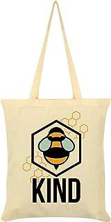 Bee Kind Tote Bag Cream 38 x 42cm