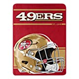 Northwest NFL San Francisco 49ers 46x60 Micro Raschel Run Design RolledBlanket, Team Colors, One Size (1NFL059050013RET)