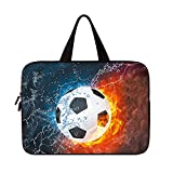 AMARY Universal 7~8 inch Tablet Portable Neoprene Zipper Carrying Sleeve Case Bag (Soccer)