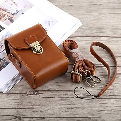 Consumer YHM Ganzkörperkamera Schnallenverschluss PU Leder Tasche mit Handschlaufe & Umhängeband for Canon G7X II / G9X Mark II, Sony RX100 / M2 (Schwarz) (Color : Brown)