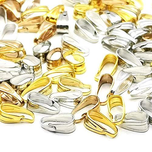 【BEAUTY PLAYER】バチカン 100個セット ゴールド/シルバー/KC金/白K 各25個 7.7mm 金属メッキ アクセサリーパーツ ペンダント ネックレス ジュエリー パーツ