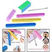 OFKPO Kit de Manicura, 6 Piezas Lima de Uñas y Pulidor de Uñas para Manicura