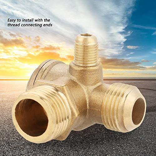 Monland Valvula de Retencion para Compresor de Aire Conector de Tubo 3//8 Rosca Hembra Dorado