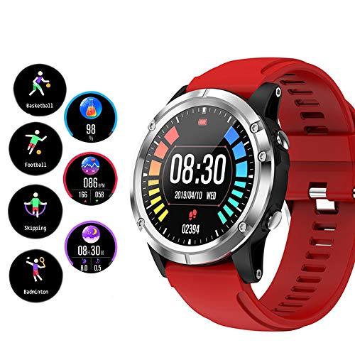 EMGOD Smart Watch, Fitness Tracker con Heart Rate Monitor SpO2 IP67 Impermeabile Pedometro Calorie Counter attività Tracker per Android e iOS,Rosso