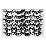 ALICE False Eyelashes 20MM Faux Mink Lashes 3D Dramatic Wispy Fake Eye Lashes 12 Pairs Pack