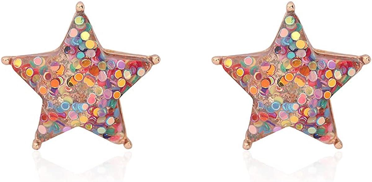 RIAH Fresno Mall FASHION Sparkly Max 83% OFF Glitter Jewel Statement Stud - Earrings Seq