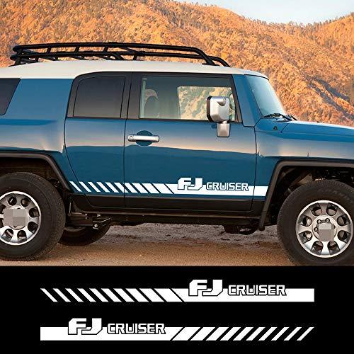 MVMTVT for Toyota FJ Cruiser Car Stickers Side Body Door Stripe Gradient Styling Graphic Vinyl Auto Car Accessories Decals DIY Custom