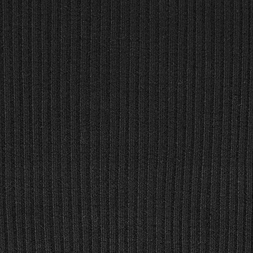 Fabulous Fabrics Rippenstrick Grob Schlauchware – schwarz — Meterware ab 0,5m — Oeko-Tex Standard 100 Produktklasse I — zum Nähen von Strickpullover und Umstandsmode