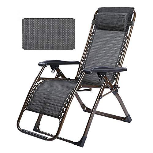 GXYAS - Sillón reclinable de exterior, sillas de oficina, sillas plegables, sillón reclinable, cama individual, silla de siesta, silla de playa