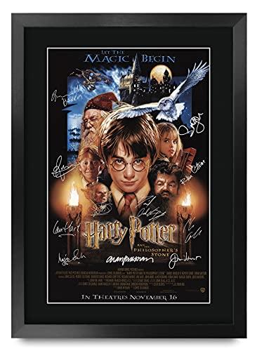 HWC Trading Artículos De Regalo De Los Filósofos Piedra Actor De Harry Potter Radcliffe, Watson, Grint Imagen Carteles Impresos Autógrafos para La Película Recordaba De Aficionados - A3 Enmarcada