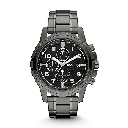 Fossil Dean FS4721 Stainless Steel Watch, Smoke