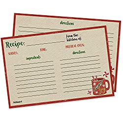"50 4""x6"" double sided recipe cards - $9.87!"
