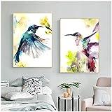 HGLLL Druck auf Leinwand Kolibri Tier Poster und Drucke