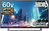 山善 キュリオム 60V型 液晶 テレビ 4K 地上・BS・110度CS 外付けHDD 録画 裏番組録画 QRS-60U4K