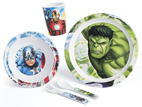 Lulabi Marvel Avengers, Set tavola, 5 unità, Melamina