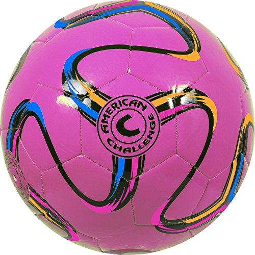 American Challenge Brasilia Soccer Ball (Raspberry, 3)