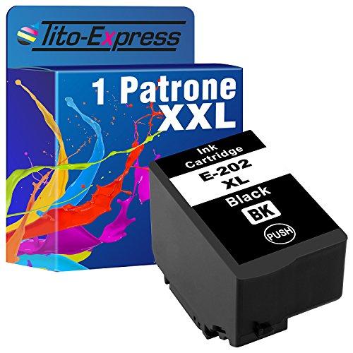 Tito Express PlatinumSerie 1 Patrone XXL kompatibel mit Epson 202XL 202 XL Geeignet fur Epson Expression Premium XP 6000 XP 6005 XP 6100 XP 6105 Black 16ml XXL Inhalt