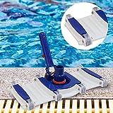 Limpiador de piscinas 14 pulgadas cabezal de vacío Piscina flexible con un cepillo más limpio Pond Spa succionador de aguas residuales piscina Útiles de limpieza Accesorios (Color : Blue)