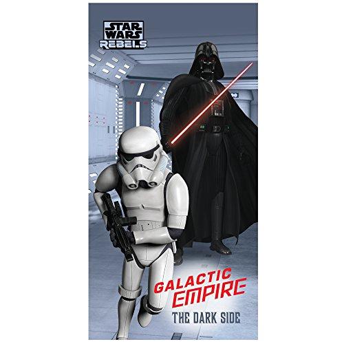 Star Wars Badetuch, Baumwolle, grau, 75 x 150 cm