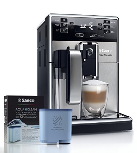Saeco picobaristo super automatic espresso machine, 1. 8 l, stainless steel, hd8927/47 14 easily select one of 15 delicious drinks, or customize it to your taste with coffee equalizer and save it to one of 6 user profile our patented aquaclean water filter eliminates the need to descale for up to 5,000 cups get superior taste for 20,000 cups with our durable ceramic grinders