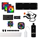 Corsair Hydro X Series XH303i Hardline Water Cooling kit with/incl XC7 CPU Water Block, XR5 360mm Radiator, XD3 Pump Res and iCUE SP120 RGB PRO Fans