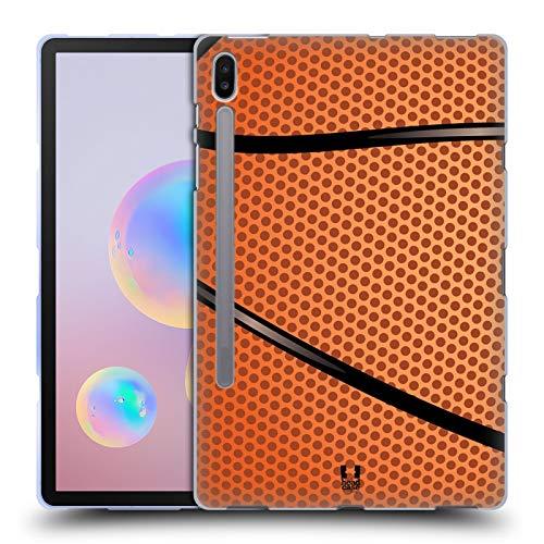 Head Case Designs Baloncesto Colección de Bolas Carcasa de Gel de Silicona Compatible con Samsung Galaxy Tab S6 (2019)
