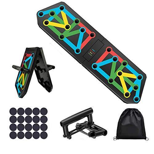 CakCity Tabla de flexiones portátil 13 en 1 con 2 asas y una bolsa de almacenamiento, tabla de flexiones para el gimnasio en casa, entrenamiento de fuerza, culturismo