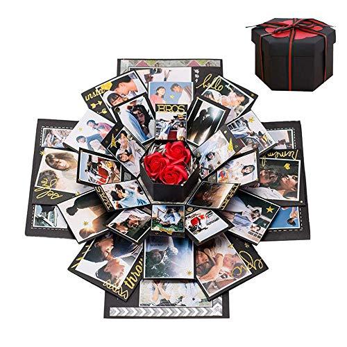 Boite Cadeau Creative, Boîte Surprise Explosion DIY Mémoire Box Album Photo Scrapbooking Album Photo Gift Box Cadeau Anniversaire Mariage Saint Valentin Noël