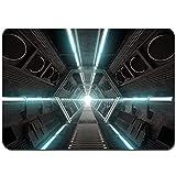 Juego de Alfombrillas de baño Antideslizantes,Interior de Nave Espacial de diseño futurista,Cómoda Alfombra de Piso Absorbente de Microfibra de Felpa Lavable 80x50cm