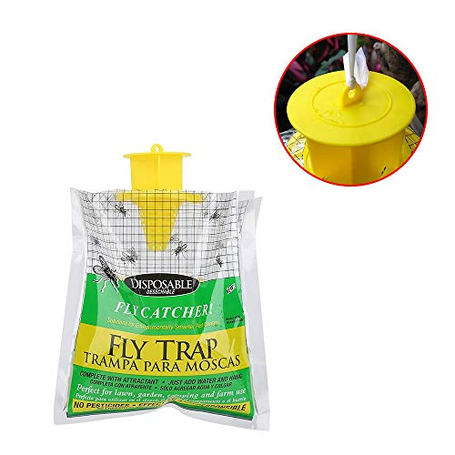LAIYYI Desechable Fly Catcher Trap Garden Home Outdoor Fly Trampa Catcher Bait Bag