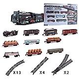 THQC Simulación clásica de Vapor Trenes de Larga Pista del Tren eléctrico de Juguete for niños for los Muchachos del camión ferrocarril Regalo de cumpleaños (Color : Will Not Smoke)
