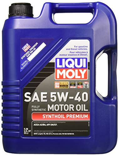 Liqui Moly 2041 Premium 5W-40 Synthetic Motor Oil...